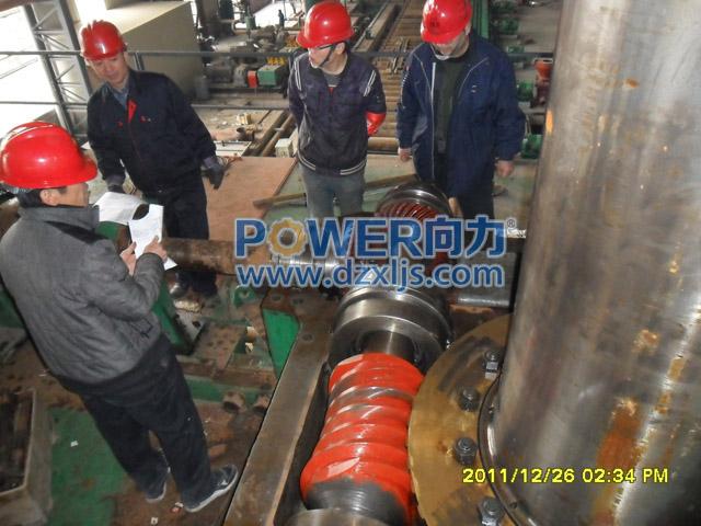 配套4300中厚板轧机mf社区官网,中心距800mm环面蜗杆蜗轮安装1
